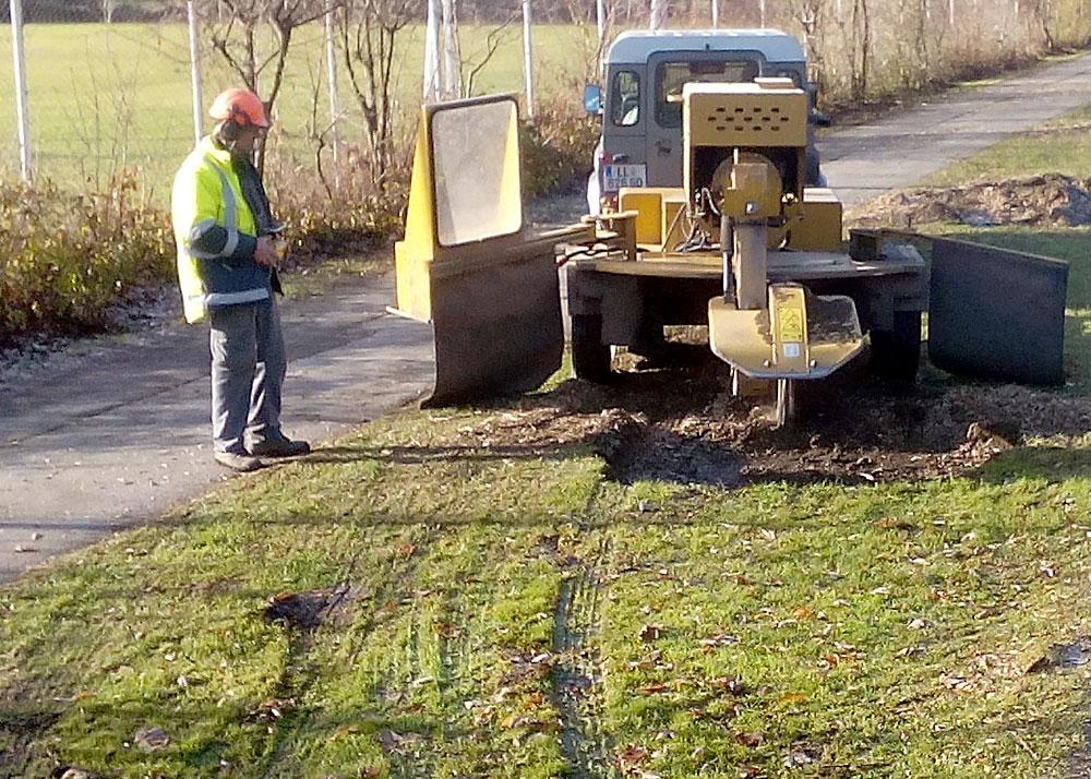 Stockfräsen Der Bernegger Baumpflege Winterdienst